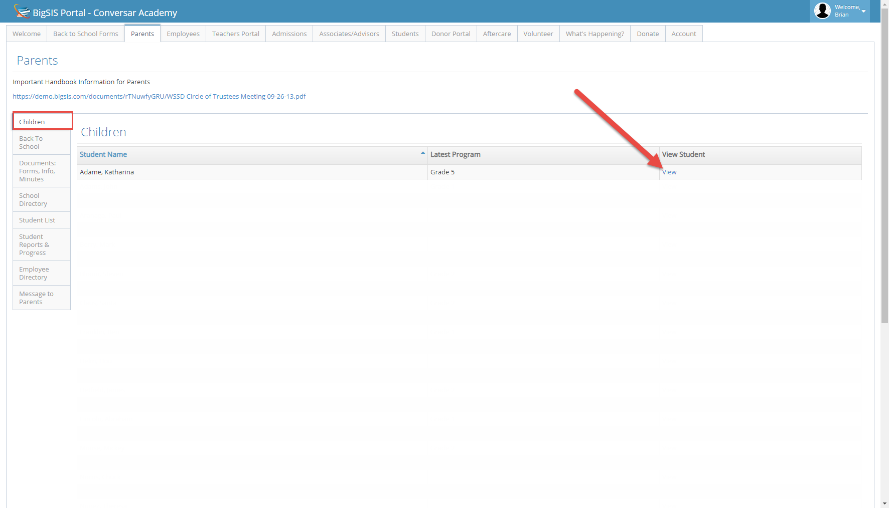 Adding Additional Contacts for a Student from the Parent Portal